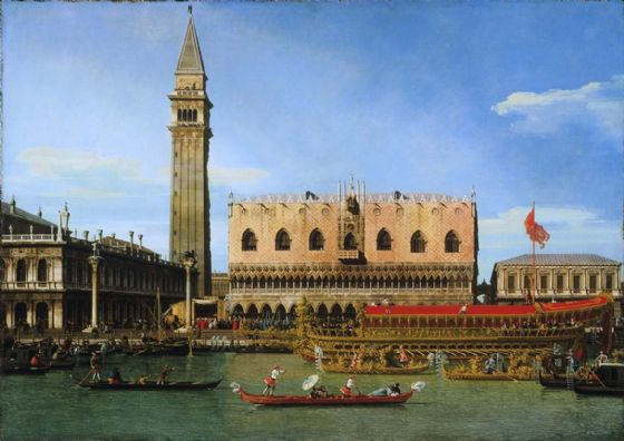 Canaletto: The Bucintoro at the Molo on Ascension Day. Fine Art Print/Poster. Sizes: A4/A3/A2/A1 (003331)